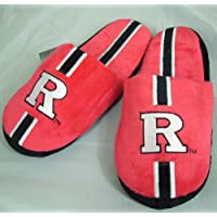 Forever Collectibles Rutgers Scarlet Knights Youth Kinder Team Stripe Plush Slippers