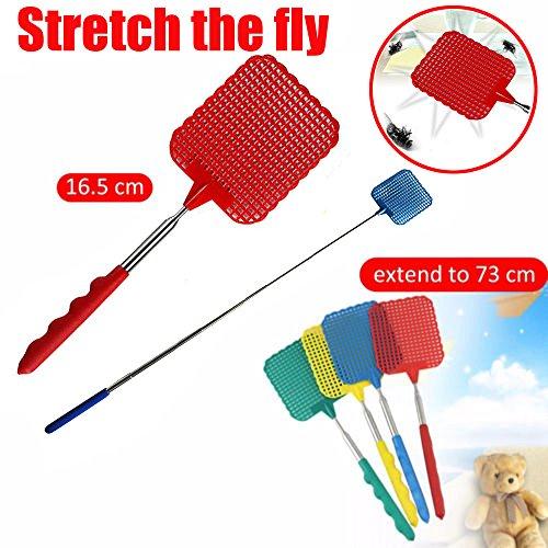 TAOtTAO Retractable Swatter Teleskopische ausziehbare Fliegenklatsche Plastik verhindern Schädlings-Moskito-Werkzeug