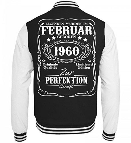 Hochwertige College Sweatjacke - Legenden Februar Geburtstag 1960 (Jacke Damen S 1960)