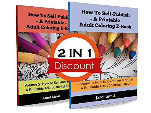 A Printable Adult Coloring E-Book (2 in 1 Book Set) (English Edition) ()