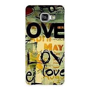 Cute Love Typo Multicolor Back Case Cover for Galaxy A3 2016
