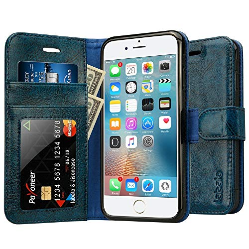 bce688f18cf Labato iPhone 6S Magnetic Leather Wallet Folio Stand Case Cover Pouch for  iPhone 6 6S with