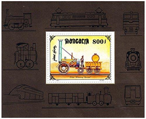 Züge Minze Briefmarkenbogen für Sammler und Eisenbahnfreunde , die \