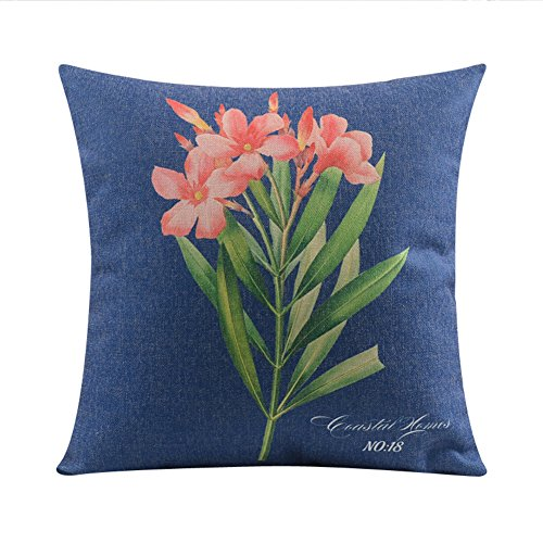 Country americano retrò stile guanciale/fiore/Cotone spesso divano throw pillow-A 45x45cm(18x18inch)VersionB