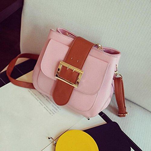 Koly_Modo delle donne di spalla del sacchetto Rosa