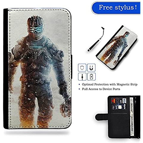 Free Stylus Gift LveCell Phone Case // Cellulare Cassa del cuoio Caso Custodia protettiva Copertura per Samsung Galaxy S6 // Fantasy Dead Man Walking Soldier