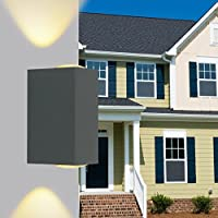 LLYY-Piazza impermeabile parete lampada parete esterna all'aperto illuminazione led luce cortile , warm white-LYA