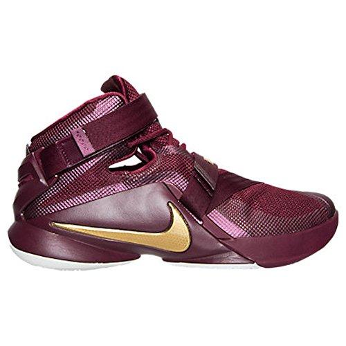 Nike Lebron Soldier Ix, Chaussures de Sport-Basketball Homme Grenat profond / doré