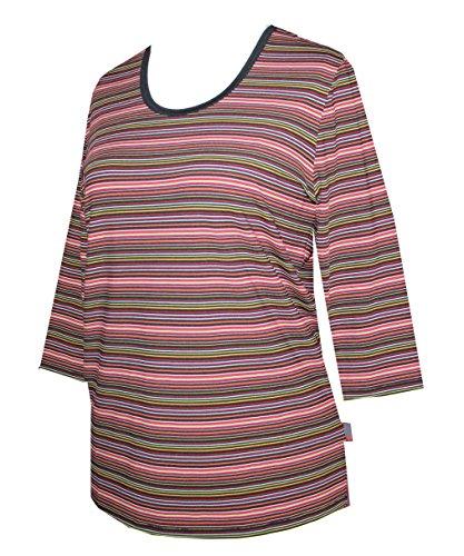 Schneider Sportswear Damen 3/4 Arm Shirt T-Shirt Pulli Pullover Rot/Schwarz/Weiß