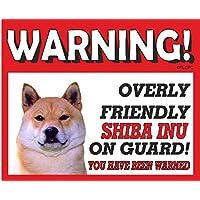 Shiba Inu cane da guardia Targa in metallo 10FL OZ lavastoviglie prova 222