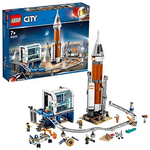 LEGO -La fusée Spatiale et sa Station de Lancement City Jeux de Construction, 60228, Multicolore