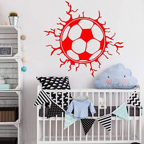 Type Wall Decor Mural Football Vinyl Art Wall Adornment Home Bedroom 53x55cm