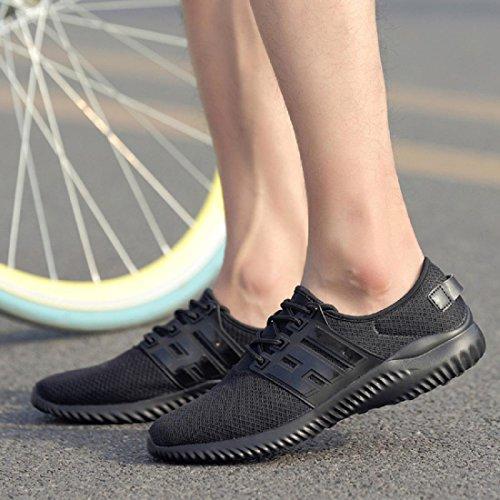 Das neue Laufschuhe Sportschuhe Atmungsaktiv Tragbar Freizeit Mode Ausbildung Reiseschuhe Black