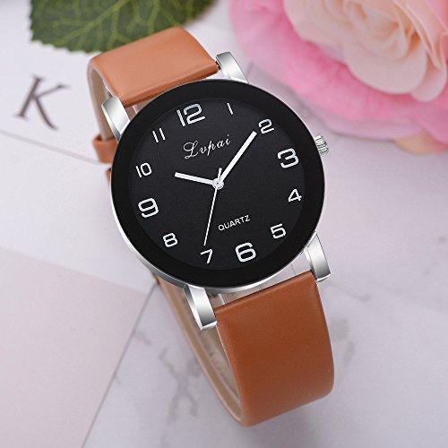 Tensay Uhren Einfach Großzügig Uhr Mode Klassisch Unisex Armbanduhr PU Lederband/Legierung Uhrenarmband Anolog Quarzuhr Armbanduhren -