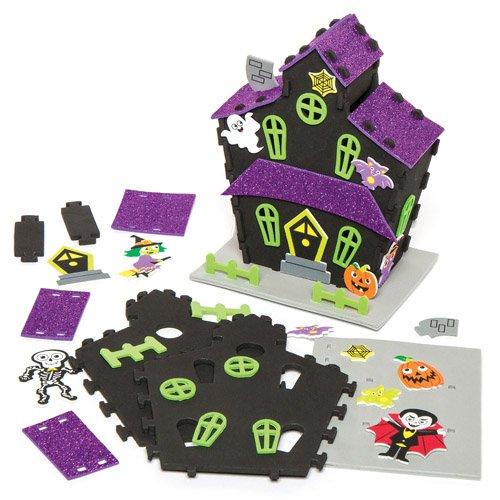 khaus aus Moosgummi für Kinder zum Gestalten, Dekorieren und Aufstellen zu Halloween (Halloween-deko-ideen Uk)