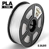 Transparent PLA 3D Drucker Filament,±0,02 mm Toleranz,1kg/Spule,1,75mm PLA,Umweltfreundliches Filament Geeignet für 3D-Drucker/3D-Druckstift