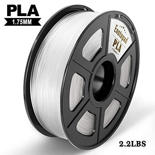 Pla 3d printer filament,enotepad pla filament 1.75mm,dimensional accuracy 1.75±0.02 mm,clear pla 1kg spool