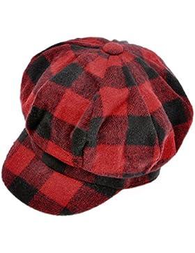 ZLYC estilo Unisex casquillo de la tela escocesa la manera de lavar en programa para lana sombrero celulitis la...