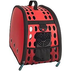 bolsos para perros Pet Travel Carrier Hombro Pequeños Perros Gatos Bolsa De Plegable Portátil Al Aire Libre Transpirable Pet Bolsa Cuna portátil para perros , 1