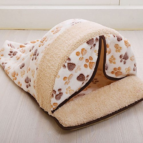 Pets sleep zone pet bed, cat sacco a pelo self-warming kitty small house, pet gatto cuccia per gatti e cani di piccola taglia con tenda