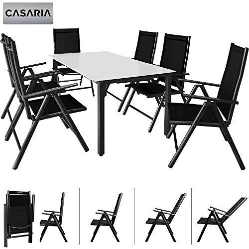 Salon jardin aluminium table
