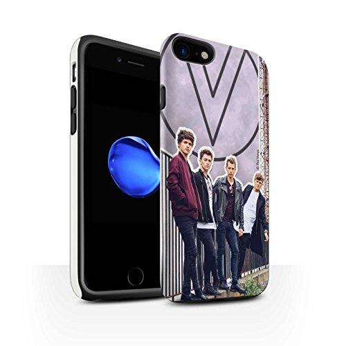 Officiel The Vamps Coque / Matte Robuste Antichoc Etui pour Apple iPhone 8 / Pack 5Pcs Design / The Vamps Livre Doodle Collection Coupé