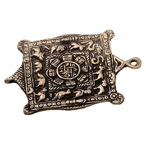 F Fityle Pendientes Tibetanos Colgantes Collar Budista Símbolos Auspiciosos del Zodiaco Chino Decoración Especial