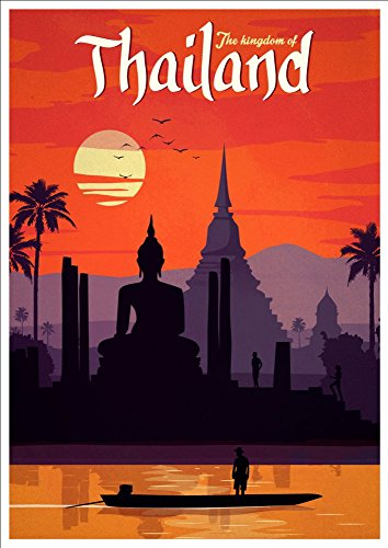 thailand-wonderful-a4-glossy-art-print-taken-from-a-rare-vintage-travel-poster