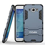 #5: Cubix Case for Samsung Galaxy J7 2016 Kickstand Back Cover - Navy Blue