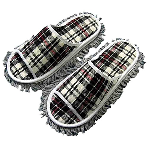 a-pair-lazy-mop-slippers-cotton-magic-cleaning-slippers-for-menblack-grid
