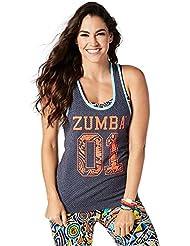 Zumba Fitness Team Tank Top, todo el año, mujer, color Let's Go Indigo, tamaño medium