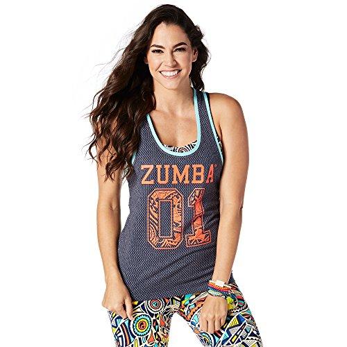 Dance Team-t-shirts (Zumba Fitness Damen Team Zumba Tank Frauentops, Let's Go Indigo, XL)