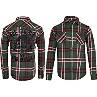 Camicia a quadri–Full Throttle–Green to Cream–King cherosene - 00 Throttle