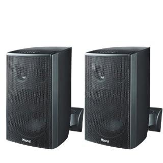 Magnat Symbol Pro 110 I Multifunktionale Musikbox mit Bassreflexgehäuse I 1 Paar 2-Wege-Lautsprecher für Regal- und Wandmontage – Schwarz