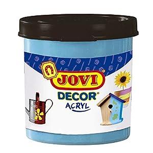 Jovi - Acryl, Caja de 6 Botes, Pintura multisuperficie, Color Azul Cyan (67021)