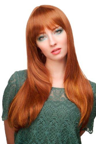 WIG ME UP ® - 3115-30H144 Damen Perücke, rotbraun, rötlich lang (Lange Damen-perücke)