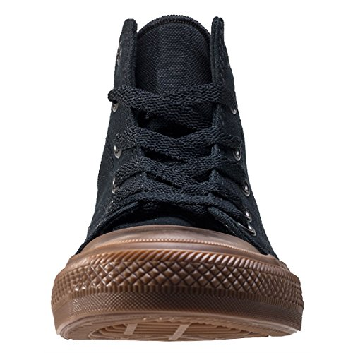 Converse Chuck Taylor All Star II Hi Black Gum Textile Junior Trainers Black Gum