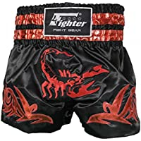 4Fighter Muay Thai Shorts Classic black camouflage brown green with high slits
