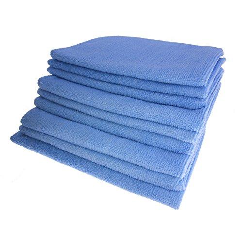GARIELLA 9 erstklassige Mikrofasertücher/Poliertücher/Staubputztücher/Autopoliertücher/Putztücher/blau