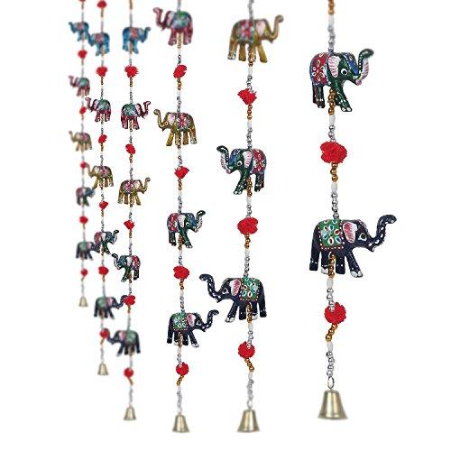 craftvatika-juego-de-2decorativa-de-elefante-puerta-hangings-frenes-escultura-papel-hecho-a-mano-dec