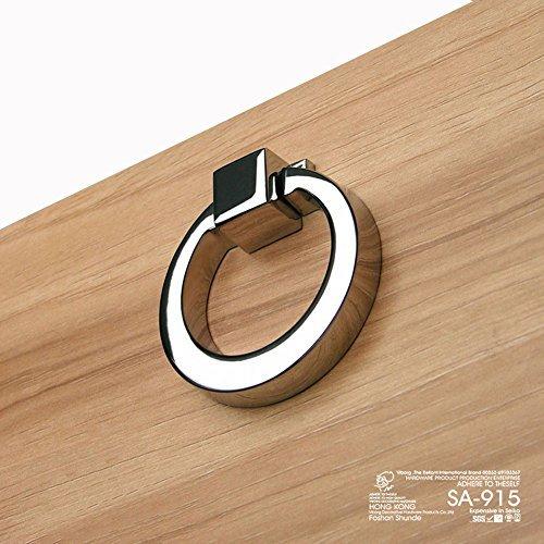 (5pz) viborg-hk sa-915in lega di zinco moderno armadio da cucina porta manopole armadio tira cassetto maniglia knobd & pulld, cromato (spedito dalla cina)