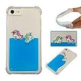 Custodia Cover iPhone 7/8,iPhone 7/8 (4,7 Zoll) [Unicorno arcobaleno] Case,Carols 3D [Unicorno arcobaleno] Flessibile Silicone TPU Bumper Telefoni Telefono Cellulari Smartphone Protezione Cover - blu