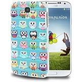 [A4E] para: Samsung Galaxy S4, i9500, carcasa, funda, tapa, cierre sokoke beibye con/patrón búho, varios coloures