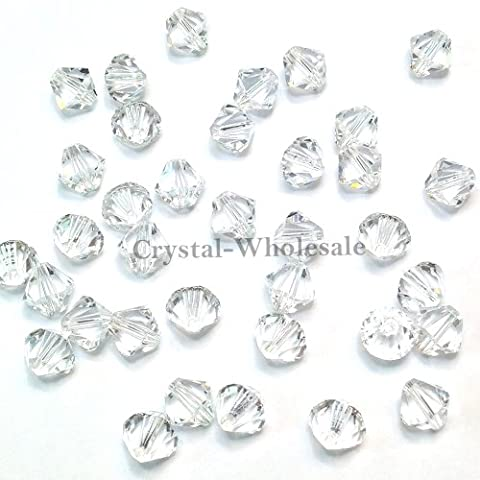 CRYSTAL (001) clear Swarovski crystal 5301 / 5328 6mm Loose Bicone Beads 36 pcs (1/4 gross) *FREE Shipping from Mychobos (Crystal-Wholesale)*