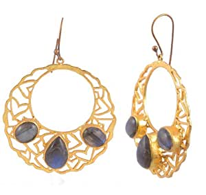 Anokhi Jewelry & Accessories gold-plated Hoop Earrings for Women (Gold)