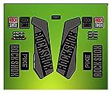 Pegatinas HORQUILLA ROCK SHOX PIKE 2016 ELX24 STICKERS AUFKLEBER AUTOCOLLANT DECALS BICICLETA CYCLE MTB BIKE 26' Y 27.5' NEGRO /BLACK