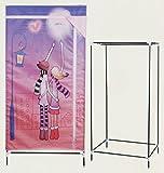 Markenlos Kinder Kleiderschrank 70x45x140cm Stoff bedruckt Stoffschrank Textilschrank