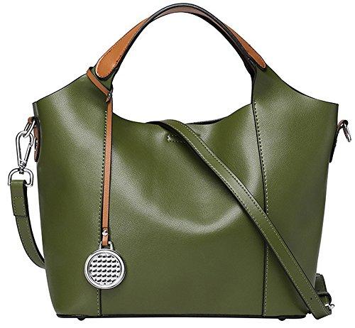 Xinmaoyuan Sacs à main pour Femme Sac à main en cuir Sac en cuir sac de messager d'épaule de dames Green