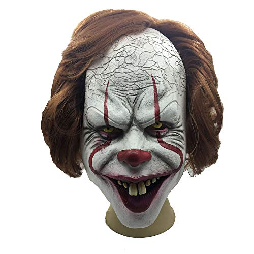 GPAN Unheimlicher Clown Latex Maske Horror Maske für Halloween Cosplay Partei-Kostüm-Abendkleid (Unheimlich Clown Halloween-kostüme)