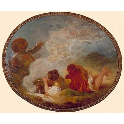 Pittura a olio dipinta a mano - 48 x 40